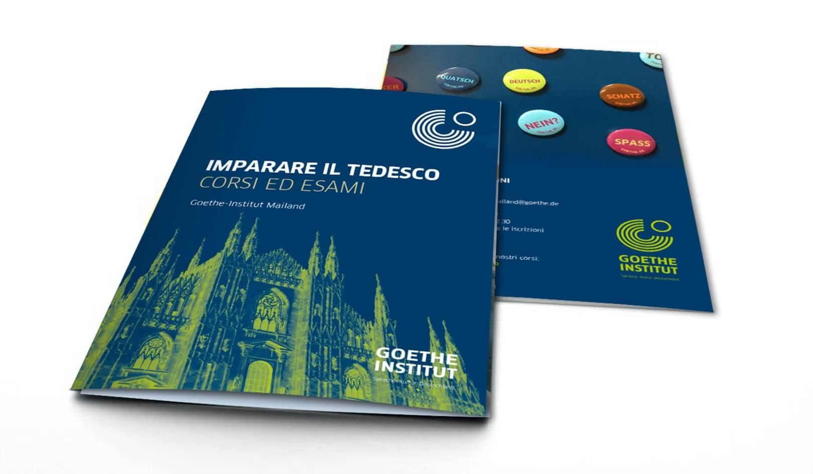 Brochure istituzionale corsi Goethe-Institut Mailand
